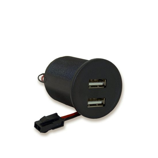USB double charger with Micro Fit® plug
